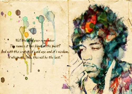 JIMI  HENDRIX - paper art canvas print - self adhesive poster - photo print